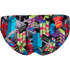speedo Dragon Yang Crossback Top Dames, black/bright zest/aquasplash/psycho red/royal purple